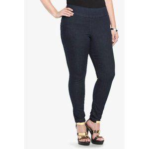 Torrid Slim Pixie Pull-On High Rise Jeans 1S Blue